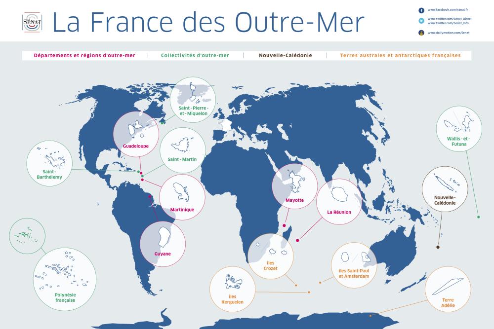 Carte France Outre Mer Carte Outre-mer Sénat